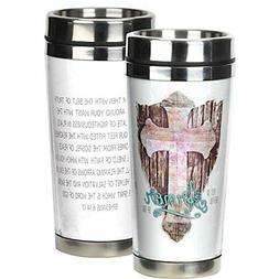 Put on the Full Armor of God White 16 Ounce Stainless Steel