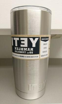 Yeti Rambler 20oz Tumbler Stainless Steel Insulated Cup W Li