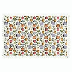"iPrint 55""x102"" Rectangle Polyester Linen Tablecloth,Kitchen"