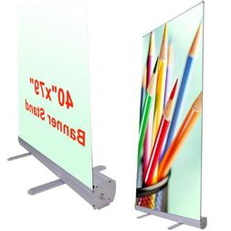 """Professional 40""""x79"""" Retractable Roll Up Banner Stand Trade"""