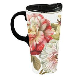 Cypress Home Romantic Afternoon Ceramic Travel Coffee Mug, 1