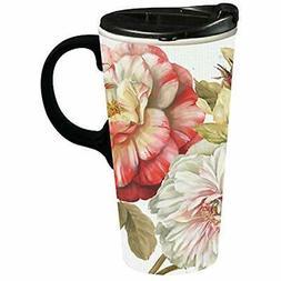 Romantic Afternoon Ceramic Travel Coffee Mug, 17 Ounces Kitc