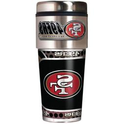 SAN FRANCISCO 49ERS 16 OZ STAINLESS STEEL COFFEE TRAVEL MUG