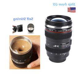 Self Stirring Camera Lens EF 24-105mm Thermos Travel Tea Cof