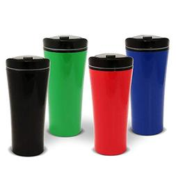 Set of FOUR color coffee cup Insulated Travel Car Mug | Spil