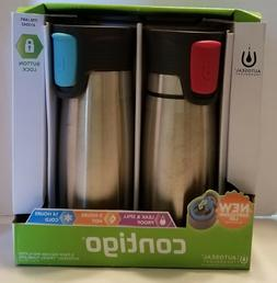 Set of 2pk Vacuum Insulated Contigo 16oz Stainless Steel AUT