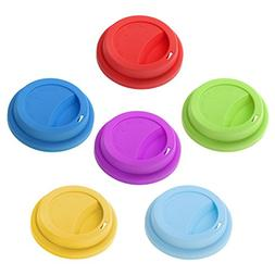 Aspire Silicone Drinking Lid Cup Lids, Reusable Coffee Cup C