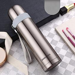 Silver 500Ml Stainless Steel Bullet Water Bottle Flask Tumbl