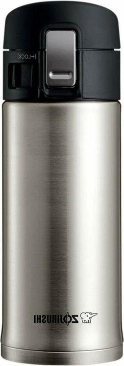 Zojirushi SM-KHE36XA 0.36-Liter Stainless Steel Travel Mug,