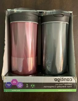 Contigo SNAPSEAL Byron Plastic Travel Mug Set 16oz Black & R