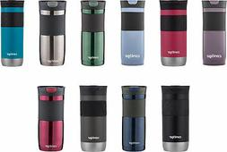 Contigo SnapSeal Byron Stainless Steel Travel Mug, 3 Sizes,