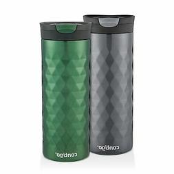 Contigo SnapSeal Kenton Travel Mugs, 20 oz, Gunmetal & Hunte