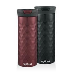Contigo SnapSeal Kenton Travel Mugs, 20 oz, Black & Spiced W