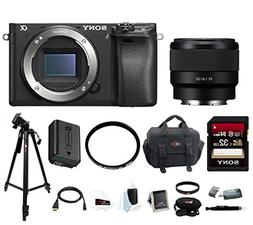 Sony a6300 Mirrorless Digital Camera  with FE 50mm Lens & Fo