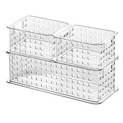 InterDesign Stack & Slide Storage Baskets , Clear