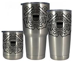 Stainless insulated 10 20 or 30 oz Coast Guard tumbler- FREE