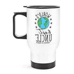 NOLIEE Stainless Steel Travel Coffee Blank Mug World's Best