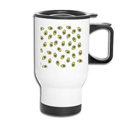NOLIEE Stainless Steel Travel Coffee Blank Mug Avocado Trave