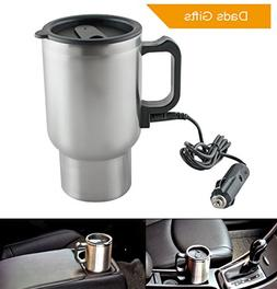 Enshey 12V Stainless Steel Heated Travel Mug Cup for Car Hea