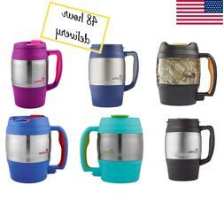 Stainless Steel Insulated Coffee Mug Handle Lid Tea Classic