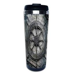 Stainless Steel Insulated Coffee Travel Mug,Equipment Illust