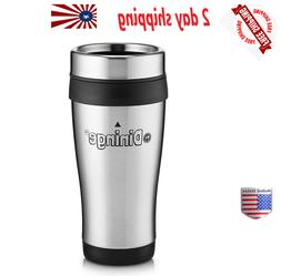 Dininge Stainless Steel Insulated Travel Mug  16 Oz.Leakproo