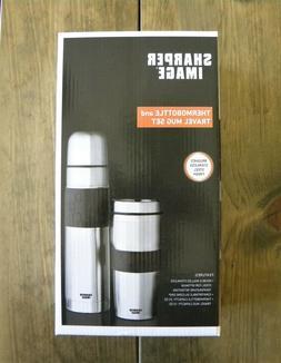 New Sharper Image Stainless Steel Thermo Bottle & Mug Travel