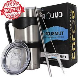 CULOR 30oz Stainless Steel Tumbler With Straw, Handle & 2 NE