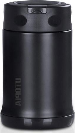Stainless Steel Vacuum Insulated Food Jar Thermos With Foldi