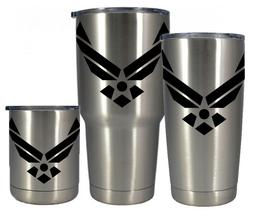 Stainless vacuum insulated 10 20 30 oz Air Force tumbler- FR