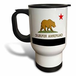 3dRose State Flag Of California, Travel Mug, 14oz, Stainless