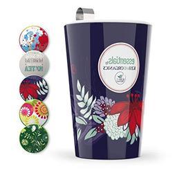 Steep & Strain Ceramic Tea Mug - Insulated Cup with Tea Infu