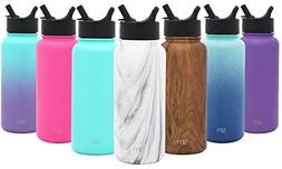 Simple Modern 18 oz Summit Water Bottles with Straw Lid - Va