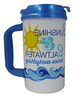 Sunshine and Saltwater 32 oz Insulated Travel Mug with Lid