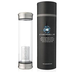 SilverOnyx Tea Infuser Bottle Tumbler Travel Mug - NEW & Imp