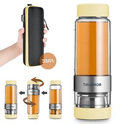 Tea Infuser Bottle Tumbler Travel Mug ROMAUNT Twist Valve Sy