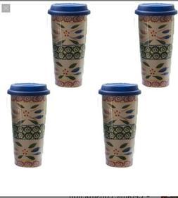 temp-tations Old World Set of 4  Travel Mugs Bundle