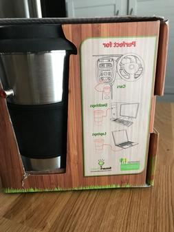 The EcoPower Insulated Heated Travel Mug Includes USB Car Ad