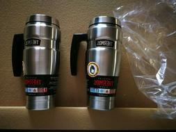 Thermos 2x Stainless 16oz Hot/cold Travel Mugs With Handle