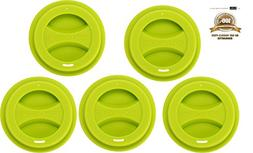 5/Pack Reusable Silicone Coffee Mug Lid Set, KSENDALO Durabl