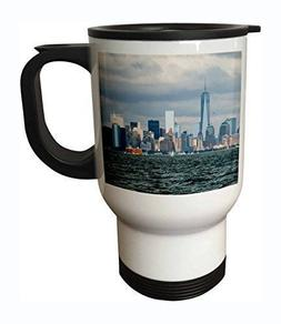 3dRose tm_203191_1 NYC and Freedom Tower Stainless Steel Tra