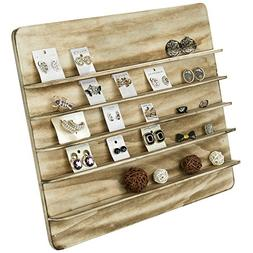 MyGift Torched Wood 5 Tier Retail Jewelry Showcase Rack, Cou