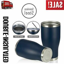 Travel Coffee Mug Cup Stainless Steel Thermal Insulated Larg