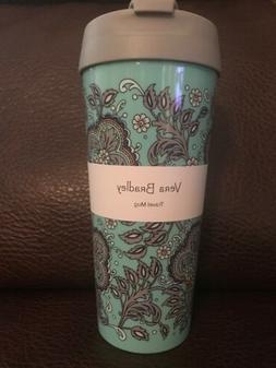 Vera Bradley Travel Mug 16oz Fan Flowers Drink Cup NEW