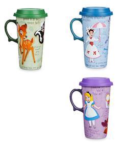 Disney Store Travel Mug  Alice Bambi Mary Poppins New 2019