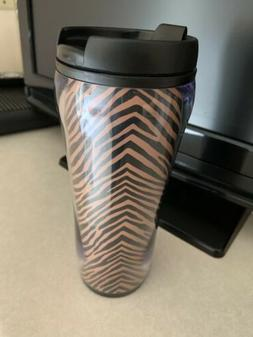 Vera Bradley Travel Mug In Zebra Brand New Retired Pattern T