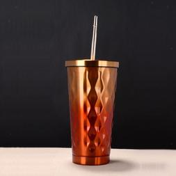 Travel Mug Tumbler Cup Coffee Insulated with Lid Straw Home