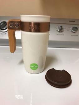 Travel Mug with Lid Ello Fulton BPA Free Ceramic White 16 Ou