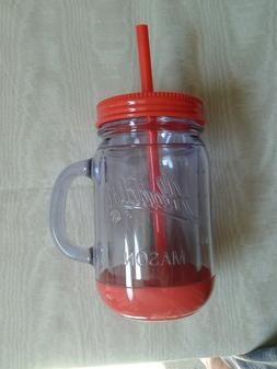 tumbler mason mug insulated handle lid