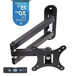 """TV Wall Mount Bracket, Full Motion Swivel and 15"""" Extension"""